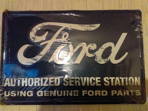 Used Ford Authorized Dealer Service Station Heart Sign For