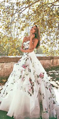 Non Traditional Floral Wedding Dresses 36 pretty floral wedding dresses for brides with images