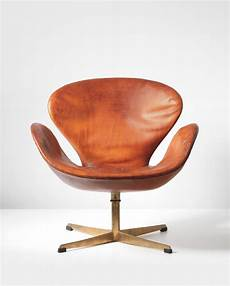 Arne Jacobsen Chair - arne jacobsen swan swivel chair 1958 leather bronze