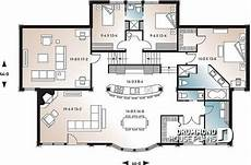 oceanfront house plans 1st level 3 bedroom oceanfront home design large second
