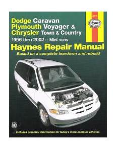 online car repair manuals free 2002 chrysler voyager on board diagnostic system 1996 2002 dodge caravan voyager town country haynes repair manual