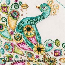 Shannon Christine Designs Paisley Peacock Cross Stitch
