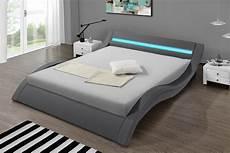 lit design lit design led gris le lit 224 leds avec t 233 l 233 commande hypnia