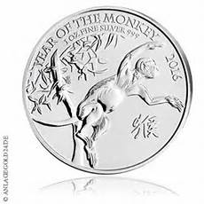 1 Oz Silber Lunar Year Of The Monkey Uk 2016