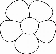Malvorlage Blume Einfach Simple Flower Design Coloring Page Wecoloringpage