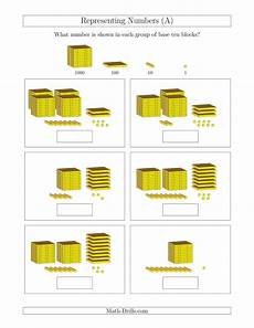 addition worksheets base ten blocks 8788 representing numbers to 4999 with base ten blocks a
