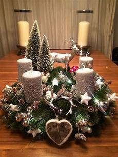 weihnachtskranz adventskranz hirsch silber