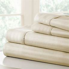 hotel collection luxury soft striped 4 piece bed sheet full ienjoy touch