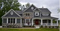 craftsman style house plans with wrap around porch an exterior shot of one version of the eleanor