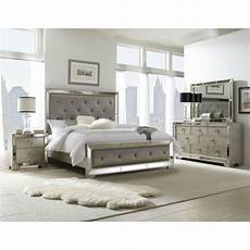 One Bedroom Sets by 5 Mirrored And Upholstered Tufted King Size