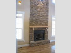 Ideas: Stacked Stone Fireplace For Classic Interior Heater