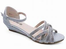 Silver Wedge Heels Wedding