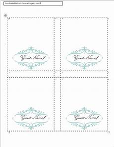 Place Cards Template Blank How To Make Your Own Place Cards For Free With Word And