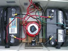 battery bank in a cooler two 12 volt batteries in parallel