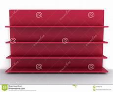 mensola rossa mensola rossa vuota illustrazione di stock illustrazione