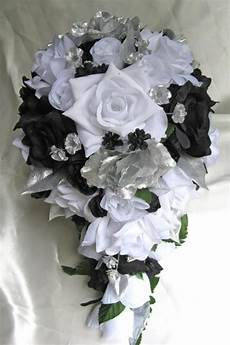 free shipping wedding bouquet bridal silk flowers 21 pcs