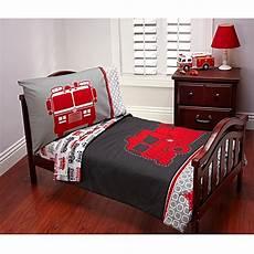 carter s 174 fire truck 4 piece toddler bedding set bed