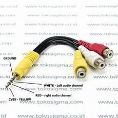 Harga Kabel Av To Rca jual kabel jek 3 5mm garis 3 to 3 rca av f 14cm di lapak