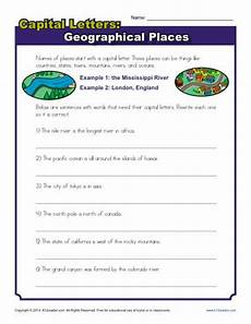 capitalizing places worksheets 15962 capitalization worksheet geographical places