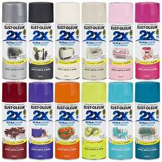 rust oleum 2x ultra cover spray paint primer gloss satin flat rustoleum ebay