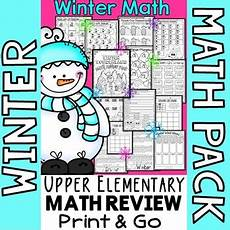 winter worksheets for 4th graders 20177 winter math worksheets 4th grade no prep winter math tpt
