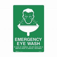 first aid signs emergency eye wash in case of chemical splash wash for 15 minutes prior to