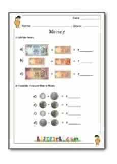 money worksheets for grade 3 india 2538 money counting worksheet resource of worksheets class 1 math with images money