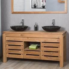 meuble sous vasque salle de bain meuble sous vasque vasque en bois teck massif