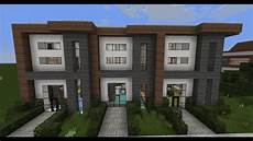 minecraft modern house plans minecraft modern house designs 6 modern house row youtube