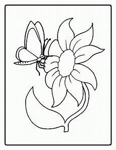 Ausmalbilder Schmetterling Auf Blume Printable Flower Coloring Sheets Coloring Home