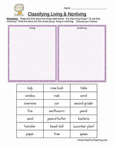 classifying and categorizing worksheets for 3rd grade 7941 classifying living and nonliving things worksheet