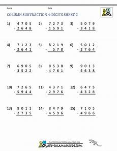 grade 3 math worksheet addition and subtraction 4 digit subtraction worksheets
