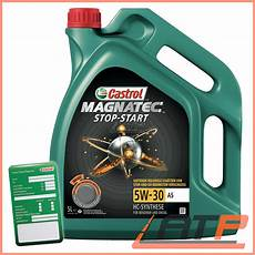 5 l castrol magnatec stop start 5w 30 a5 car engine motor