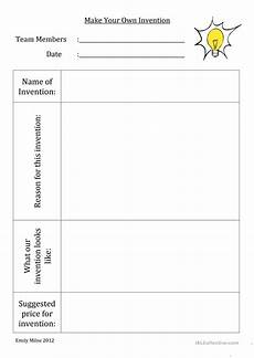 create worksheets free 19299 make your own invention worksheet free esl printable worksheets made by teachers