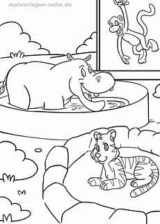 Zootiere Ausmalbilder Kostenlos Malvorlage Tiere Im Zoo Malvorlagen Und Ausmalbilder F 252 R