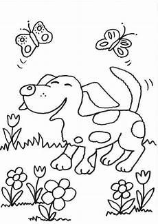 Malvorlage Hunde Kostenlos Ausmalbild Hunde Hund Und Schmetterlinge Kostenlos Ausdrucken
