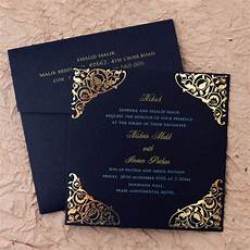 gulshan blue wedding islamic cards add a touch of