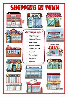 worksheets shopping 18462 shopping in town worksheet free esl printable worksheets made by teachers