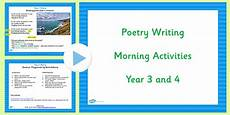poetry worksheets year 4 25384 year 3 and 4 poetry writing morning activities poems write