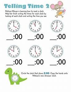 telling time worksheet for kindergarten 3585 telling time with mouse 2 worksheet education