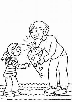 Schule Und Familie Malvorlagen Gratis Kostenlose Malvorlage Einschulung Erster Schultag Zum