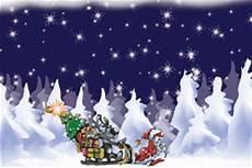 weihnachtsmann zieht einen schlitten mit elch und