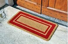 zerbino cocco outlet gt zerbino cocco 17 con bordo rosso tappeto su misura