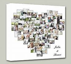 personalised shape collage canvas photo canvas