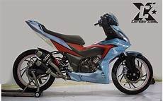 Modifikasi Supra Gtr 150 by Modifikasi Honda Supra Gtr 150 Racing Blue Cxrider