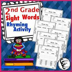 2nd grade sight words rhyming activity by custom core creations tpt