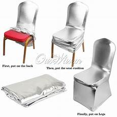 5 12 bronzing elastic spandex chair cover for wedding party banquet decor ebay
