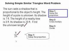 word problems similar triangles worksheets 11155 solving simple similar triangles word problem