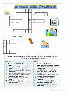 irregular verbs crossword puzzles worksheet free esl printable worksheets made by teachers