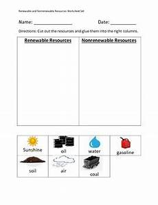 renewable and nonrenewable resources worksheet set by erin zaleski